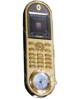 Cartier Gold Clock Mobile Cell Phone