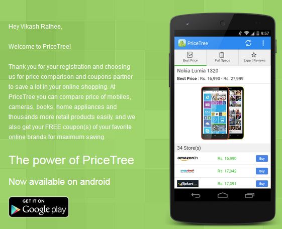 pricetree email personalization